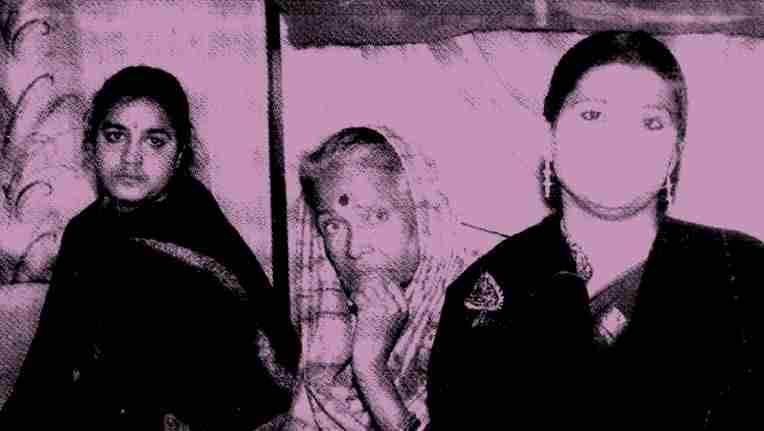 Pratima Barua with daughter Alaka and Amrita